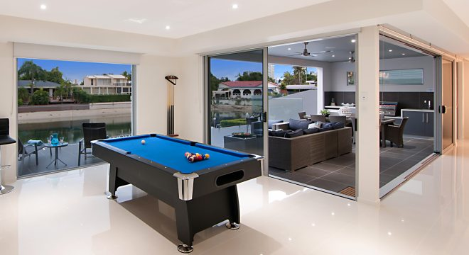Pool table for relaxation