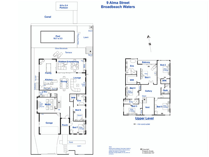 Waterfront splendour elite holiday homes gold coast for Waterfront house floor plans