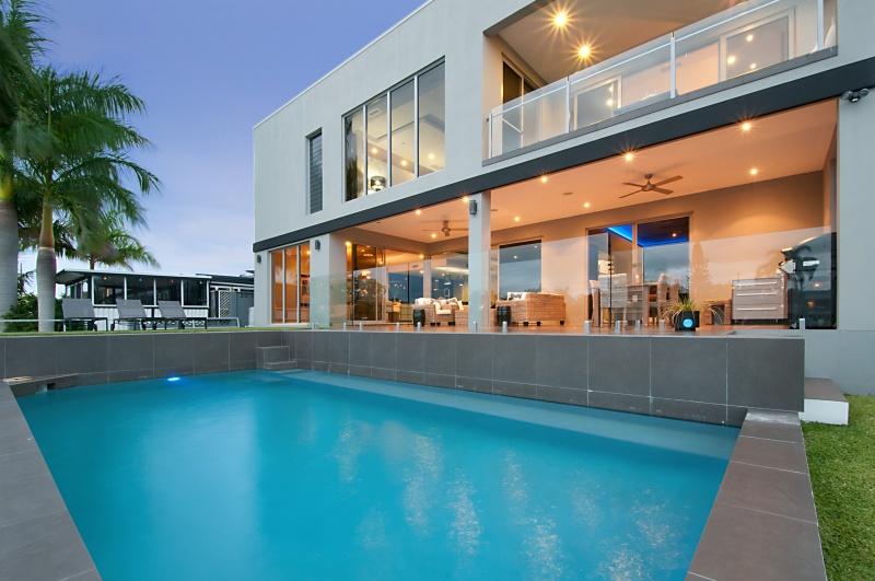 Sparkling Waterfront Pool