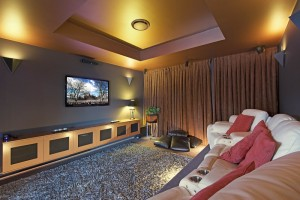 Watch your favourite movies in the cinema room