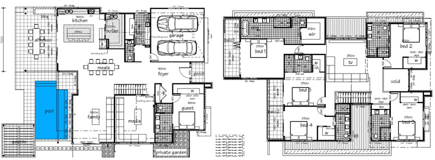 Jewel of broadbeach luxury gold coast holiday homes for Holiday home builders floor plans